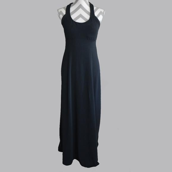 e7da2a23963 PrAna Womens Dress Medium Cali Maxi Black Stretch